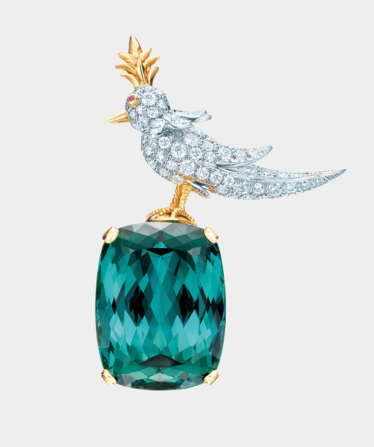 NUVO Magazine: Jean Schlumberger's Bird on a Rock Brooch by Tiffany & Co.