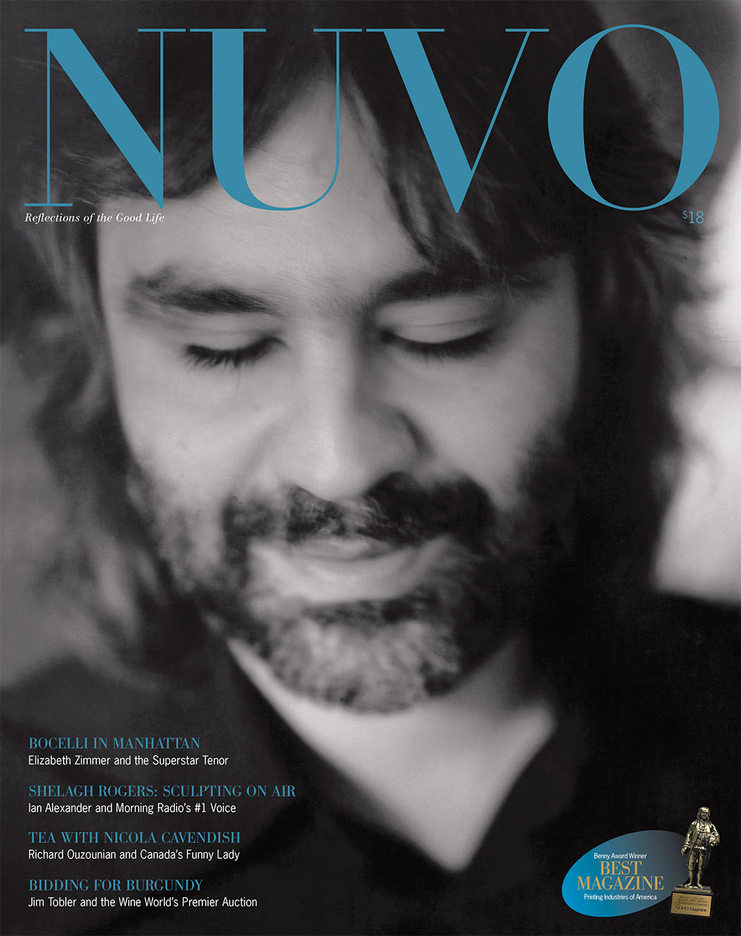 NUVO Magazine Spring 2001 Cover featuring Andrea Bocelli