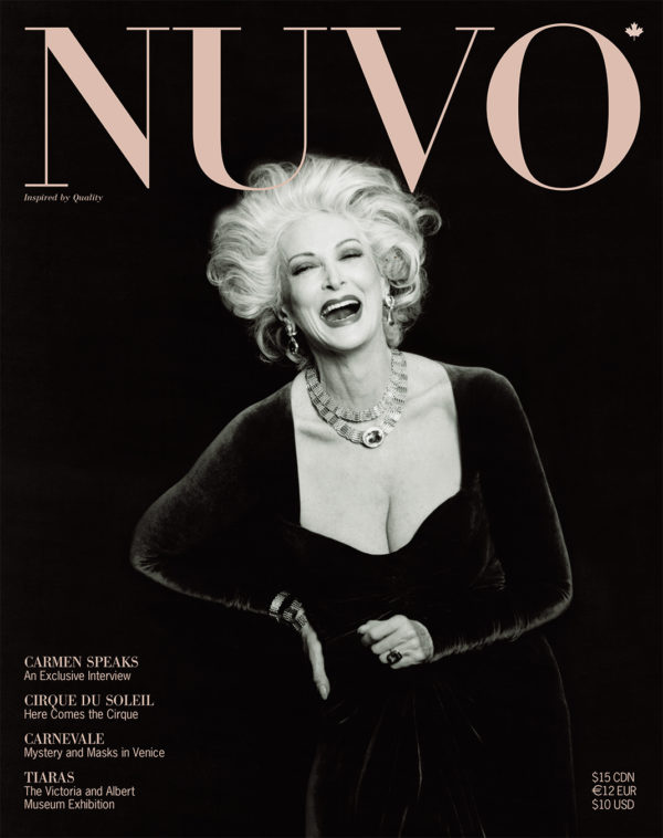 NUVO Magazine Winter 2002 Cover featuring Carmen Dell'Orefice