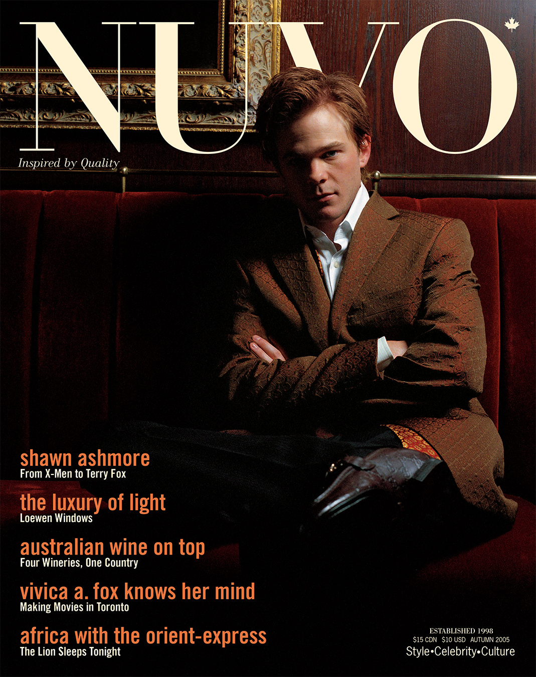 NUVO Magazine Autumn 2005 Cover featuring Shawn Ashmore