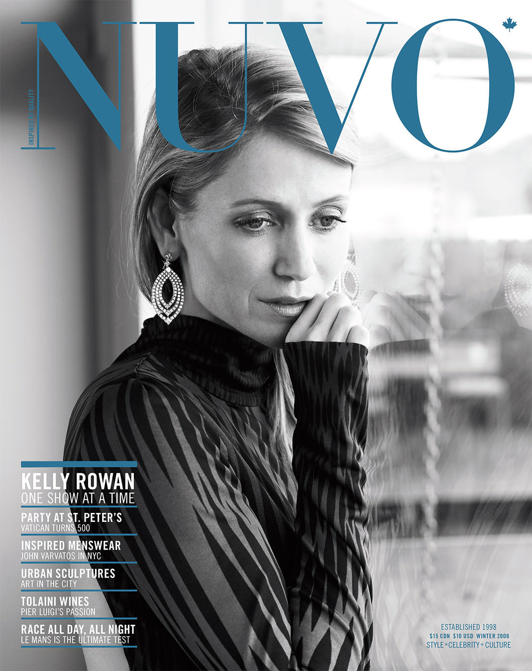 NUVO Magazine Winter 2006 Cover featuring Kelly Rowan