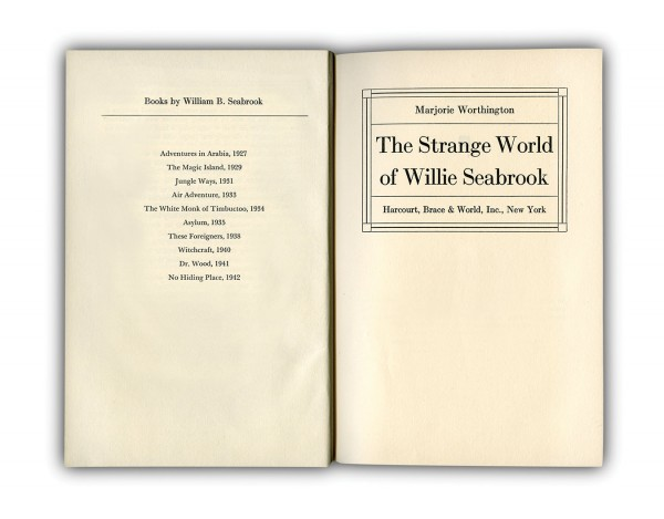 NUVO Magazine: William Seabrook, Author, Adventurer, And Fine Young Cannibal