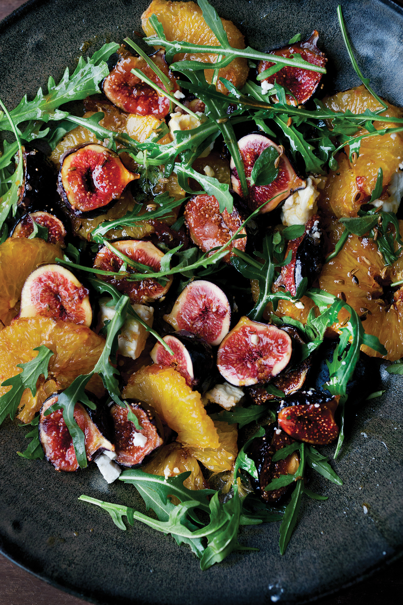 NUVO Daily Edit: Caramelized Fig, Orange, and Feta Salad