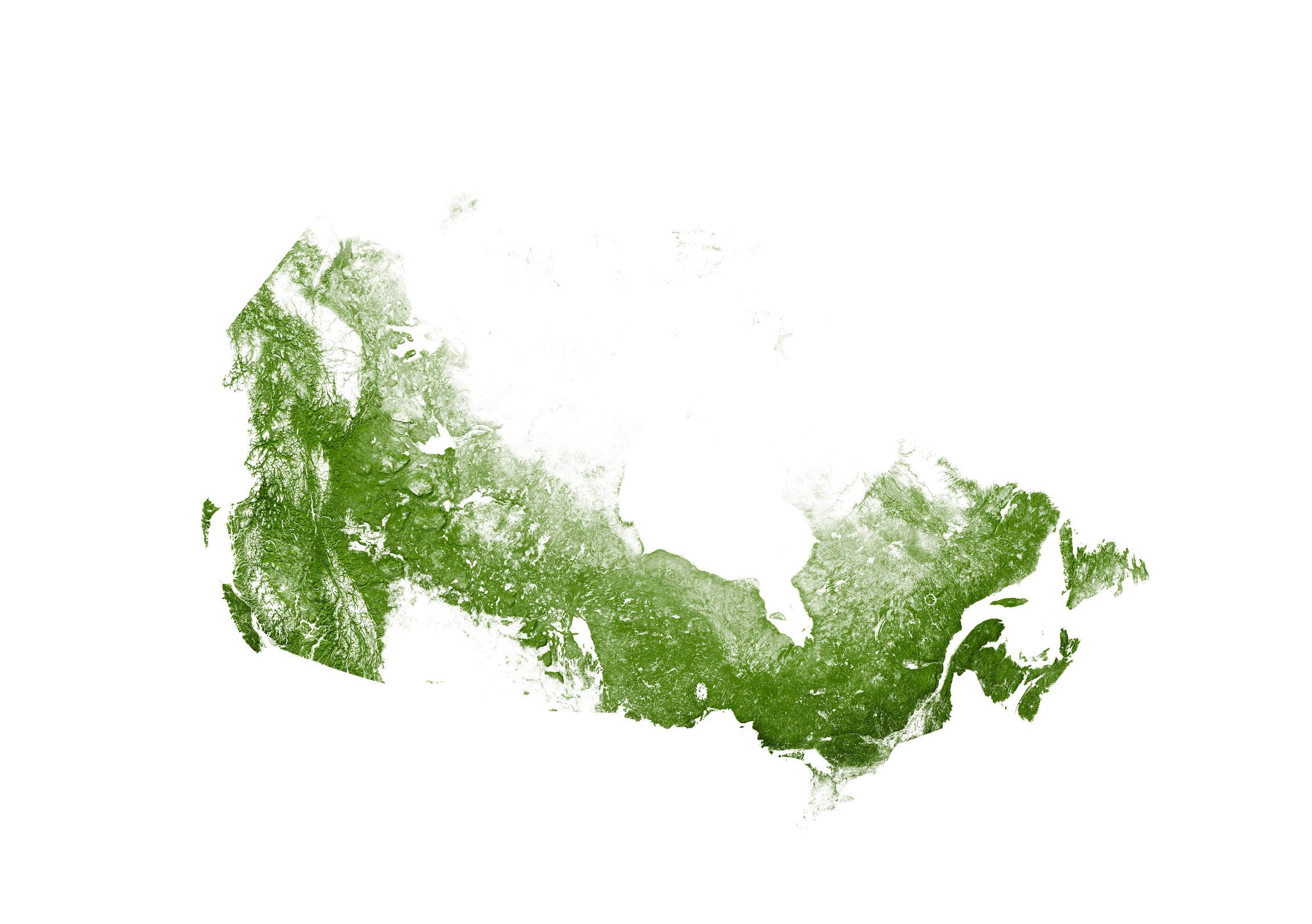 Roads of Canada, Trees Map