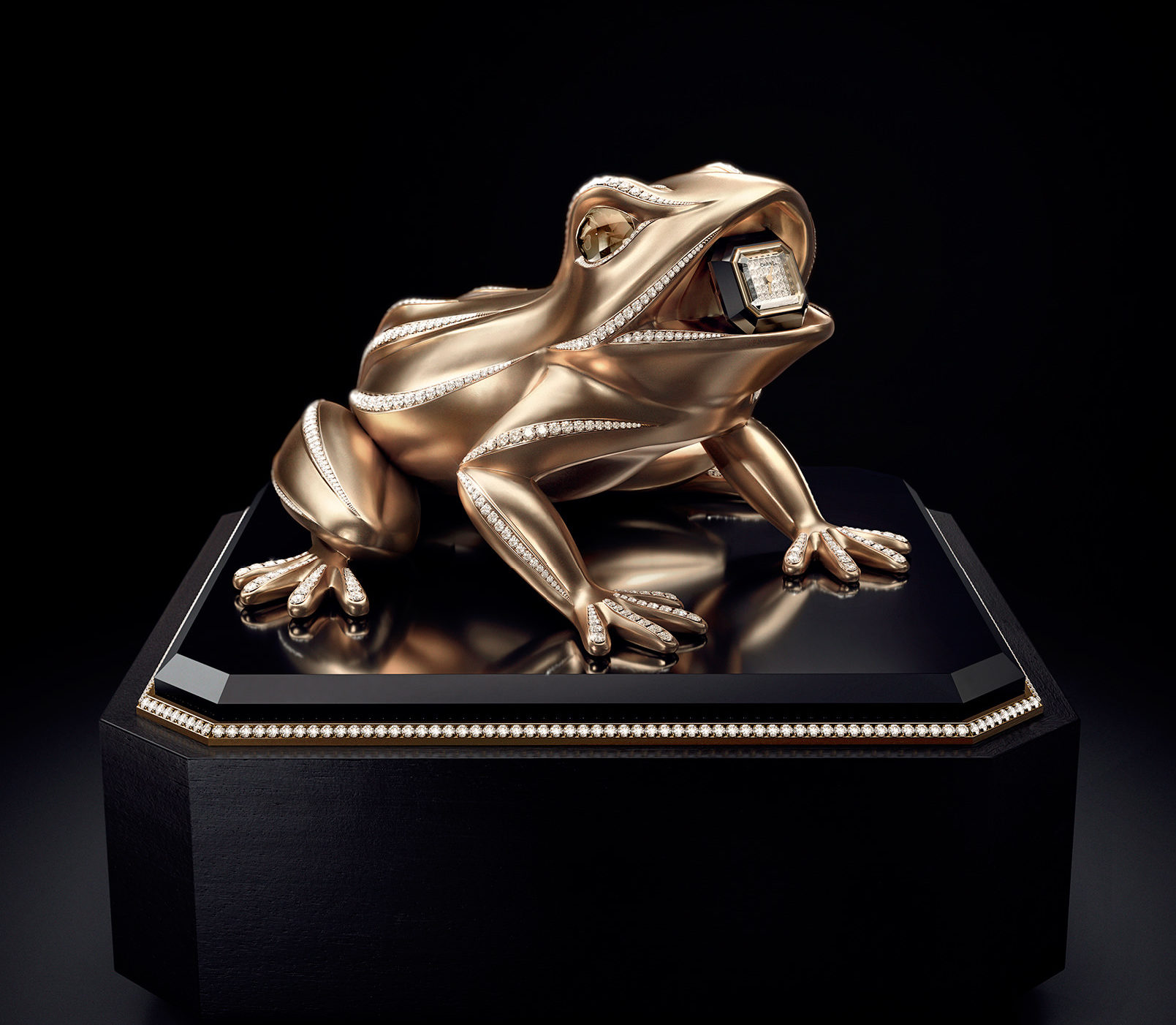 A Chanel Frog That Tells Time