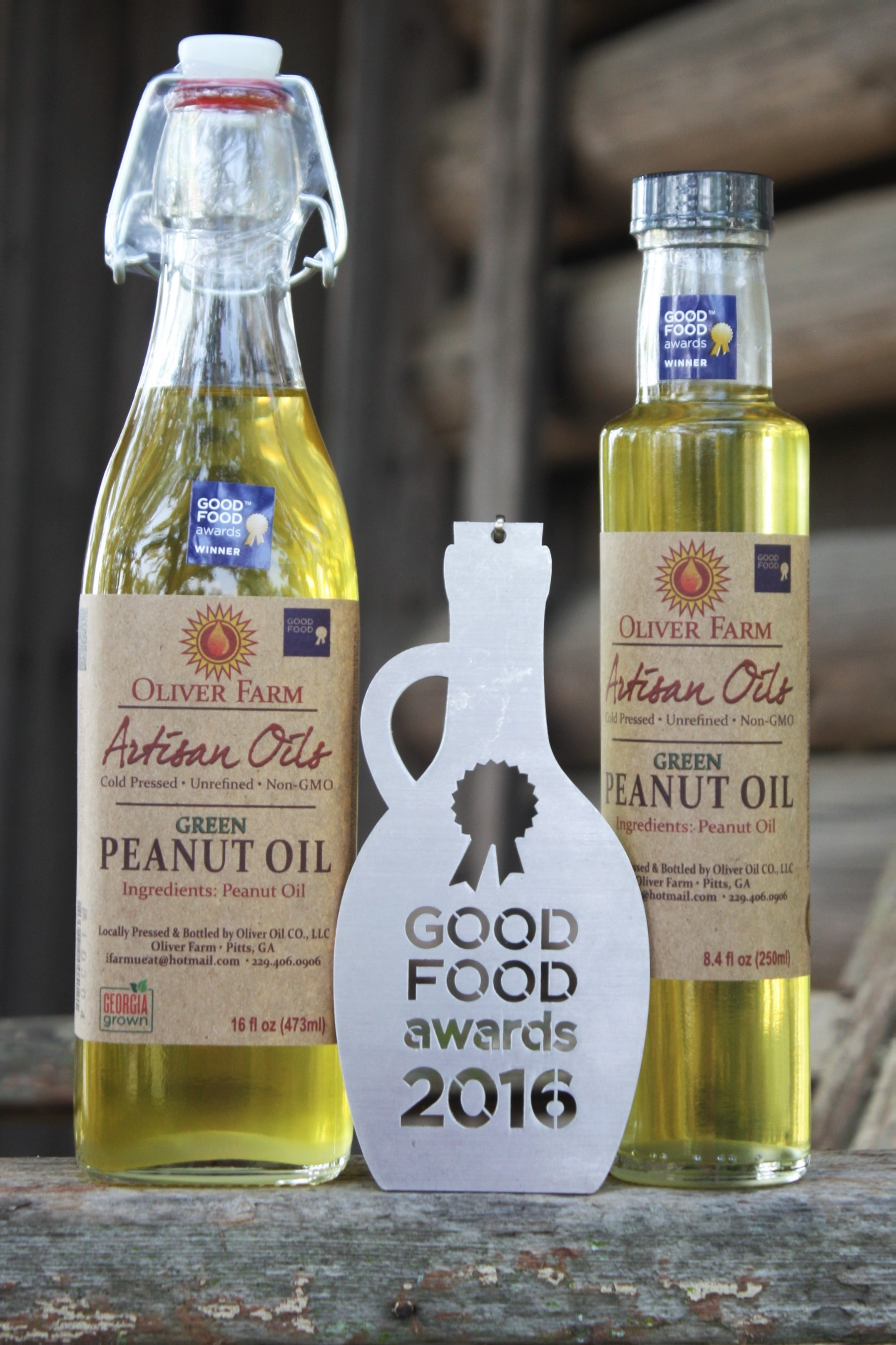 green peanut oil and award/trophy