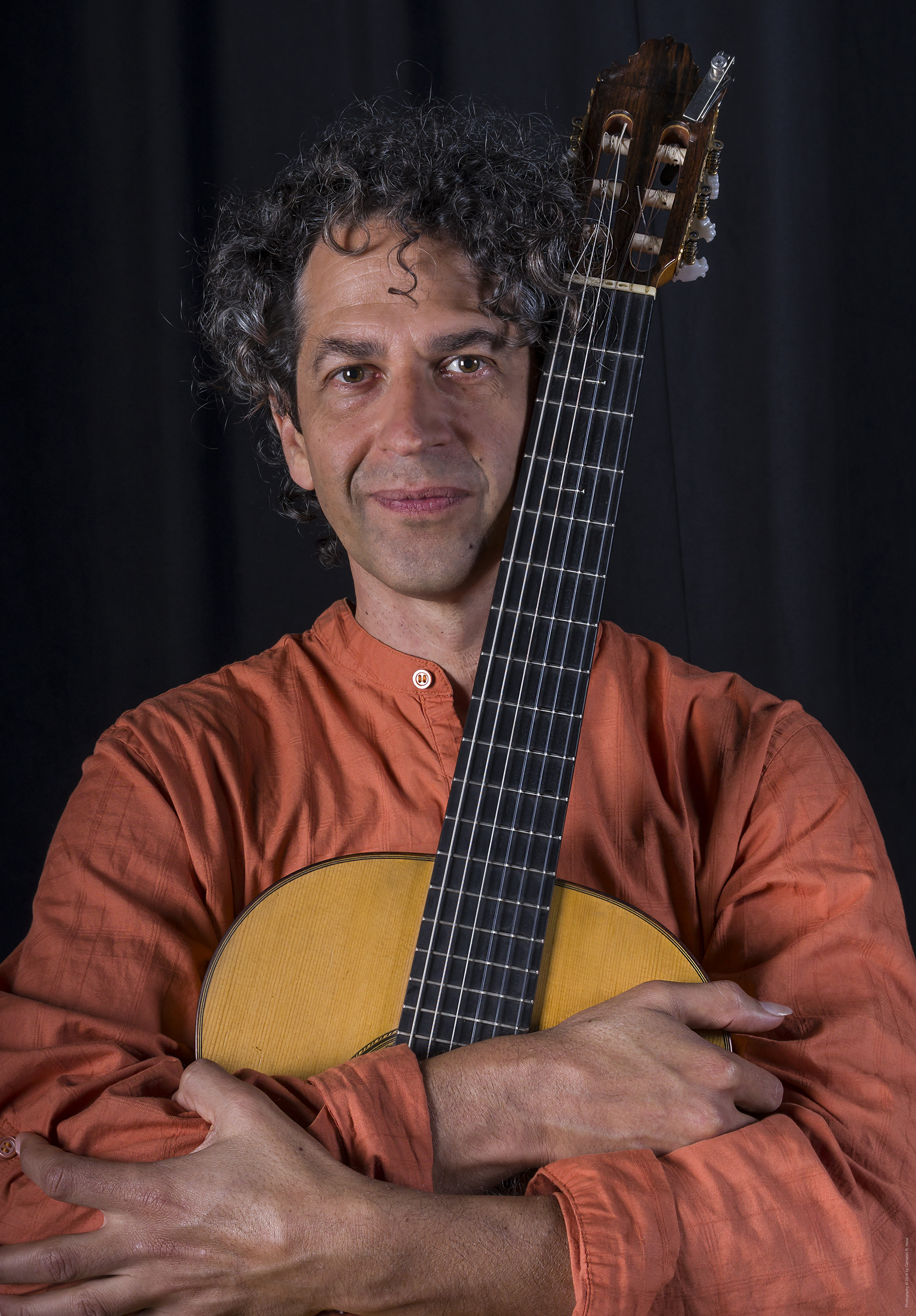 musician with classical guitar