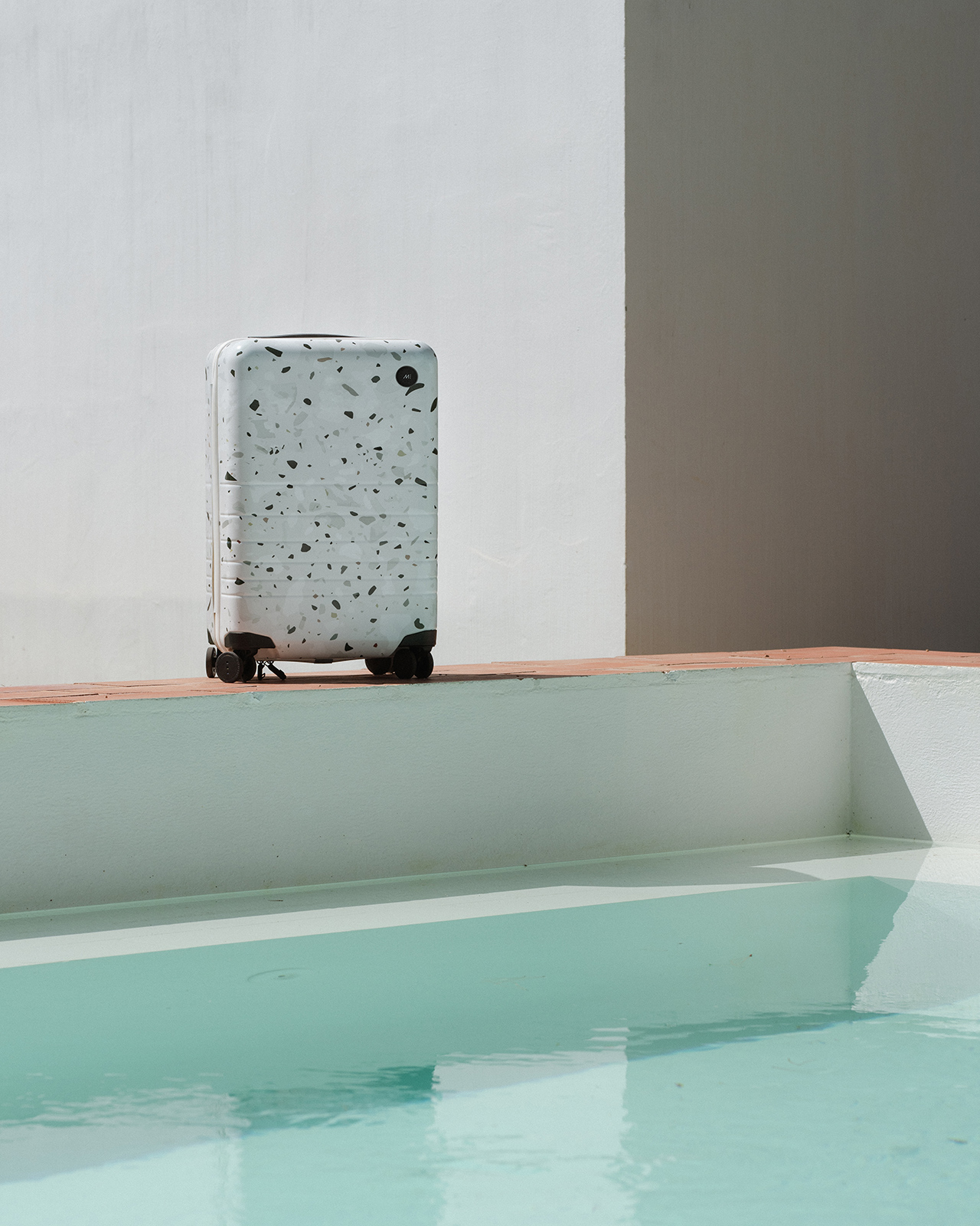 Monos are releasing a new Terrazzo print in their line of premium luggage on November 9th