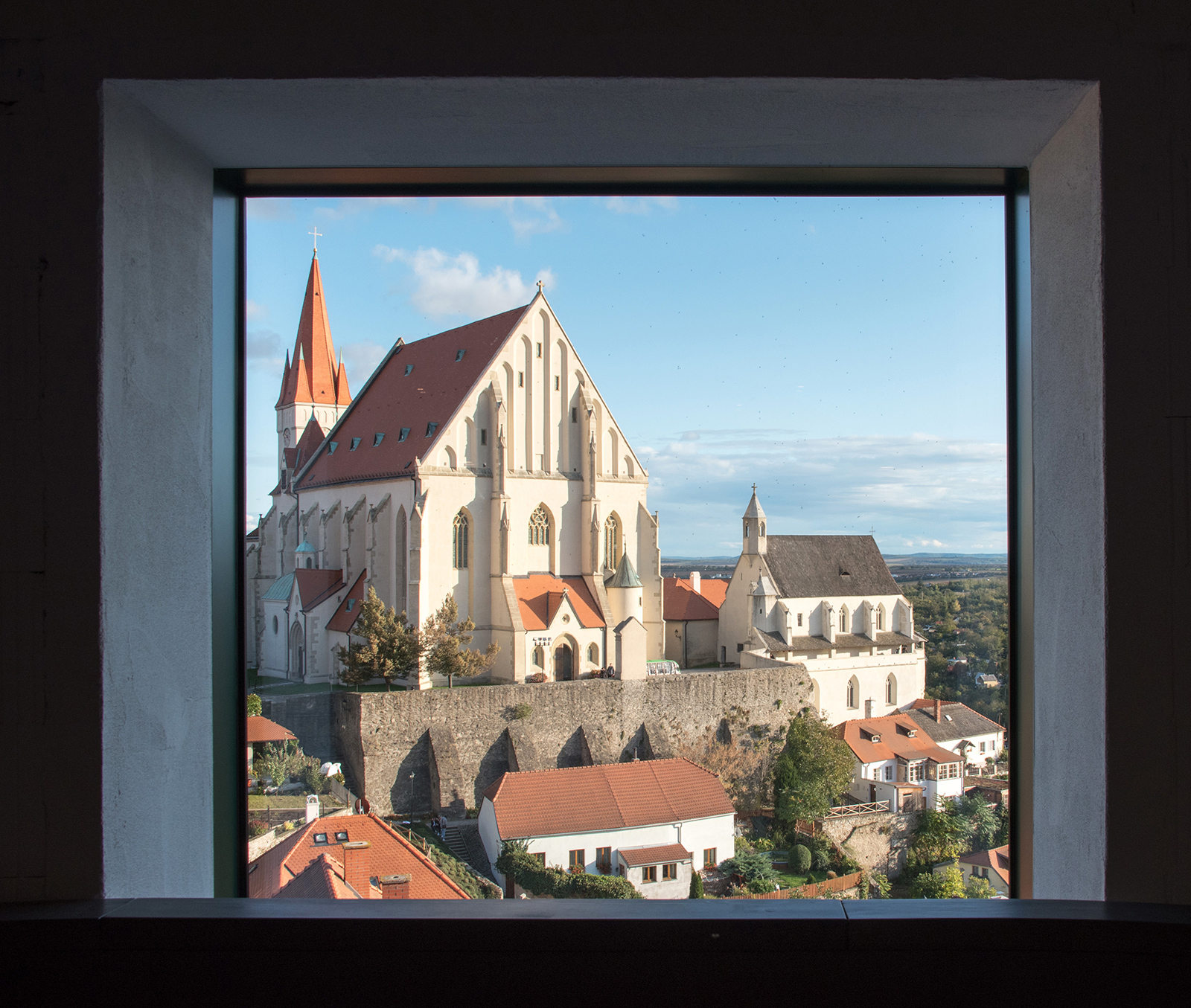 a winery with views of the city in Znojmo