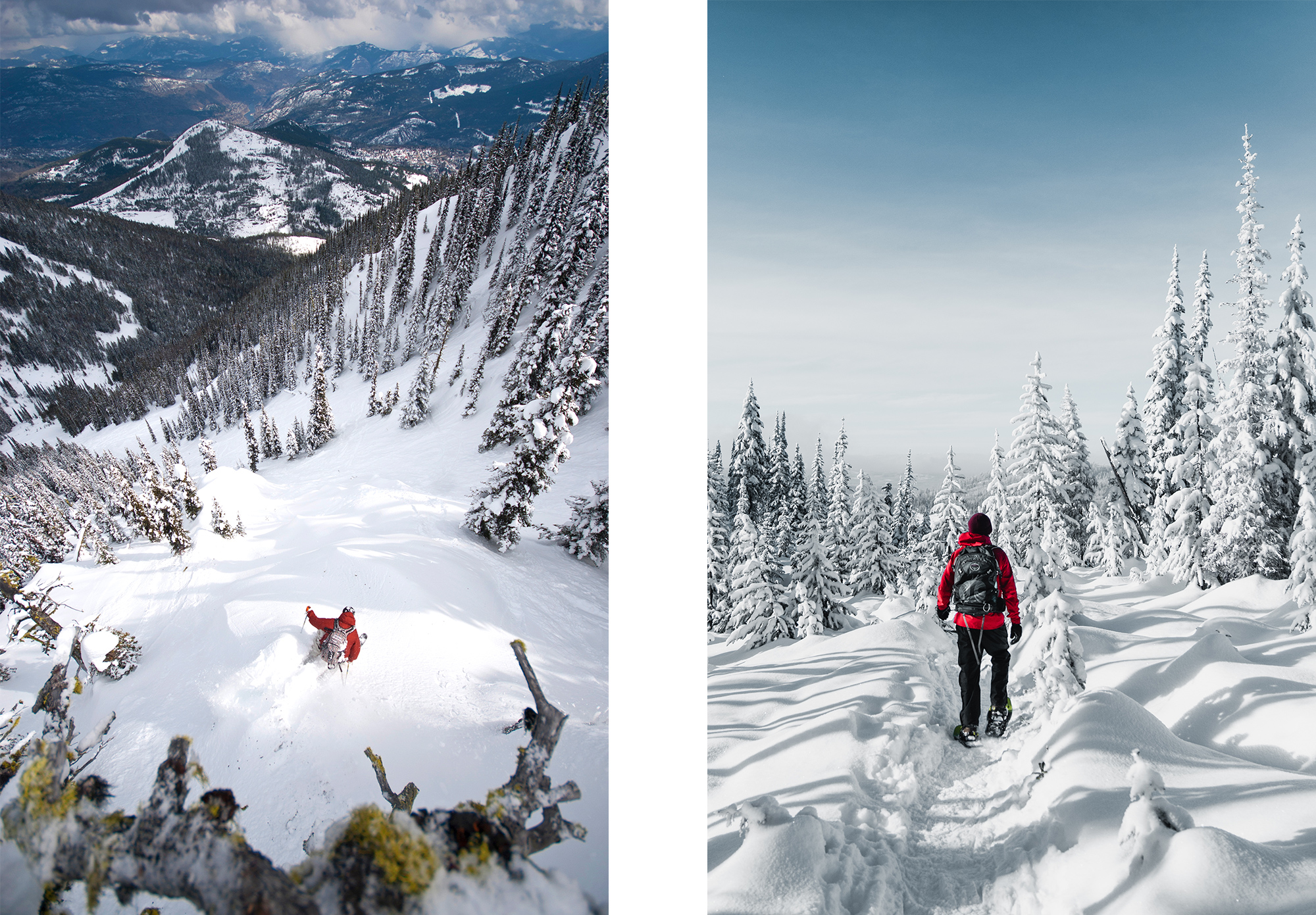 Back Country skiiers at RED Mountain