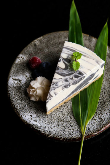 Yuwa's Black Sesame Marble Cheesecake Recipe