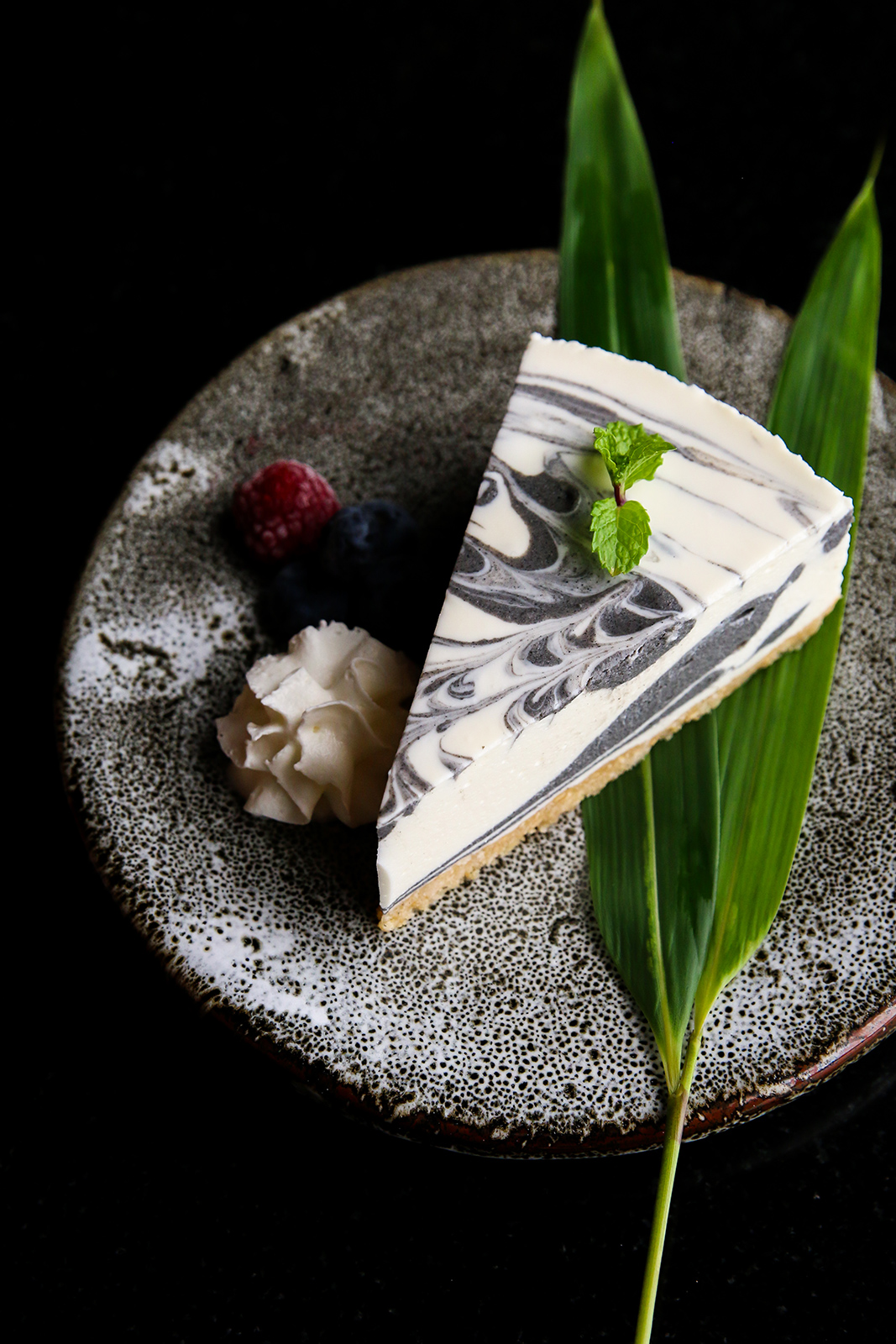black sesame marble cheesecake recipe