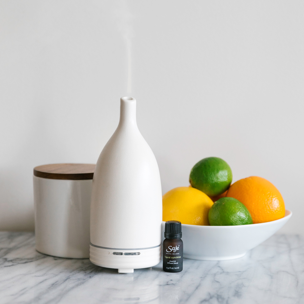 The Aroma Line of Saje Diffusers. Saje is a Canadian diffuser company.