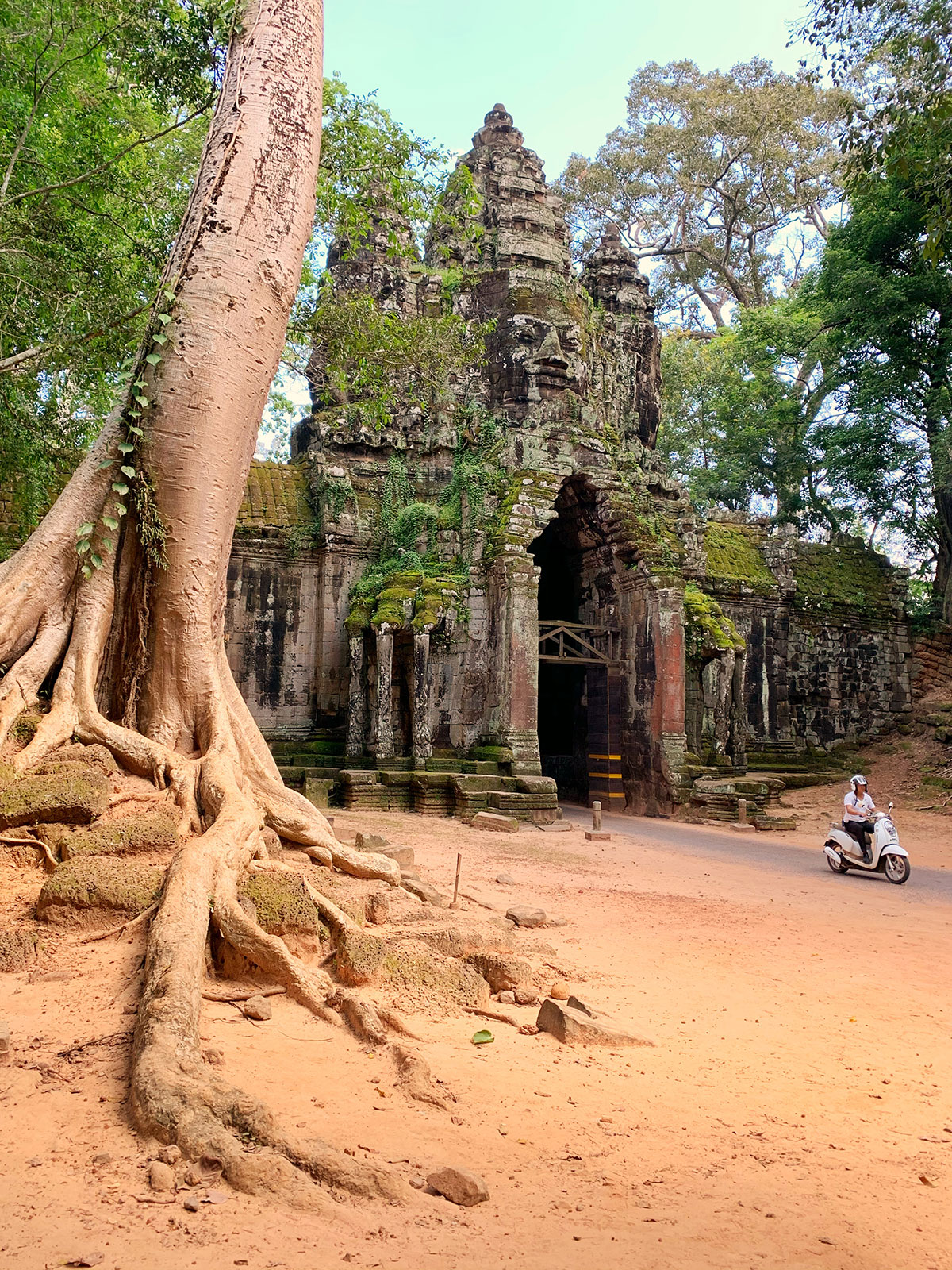 A Gate at Angkor Thom.