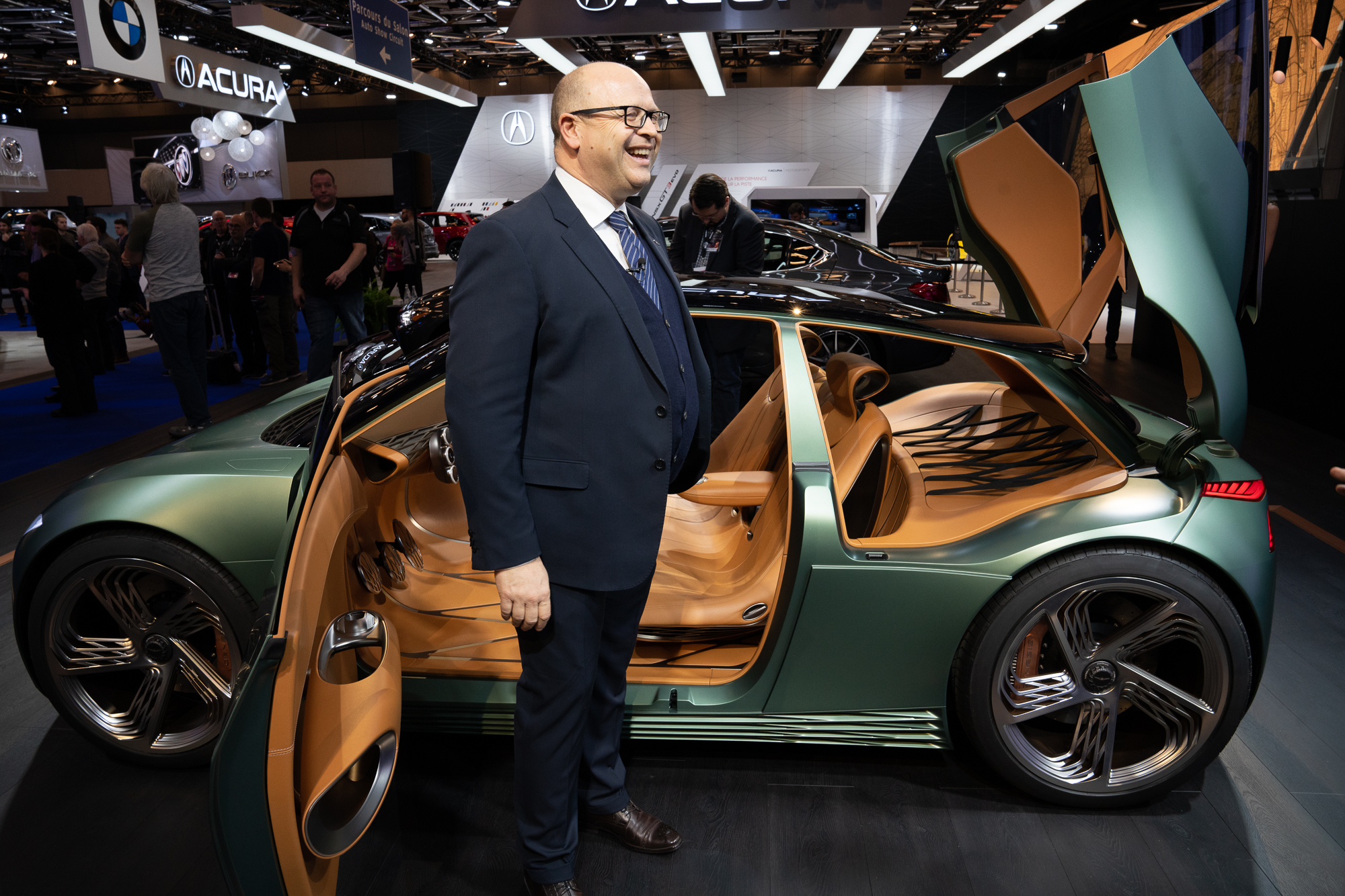 Perini with the Genesis concept car