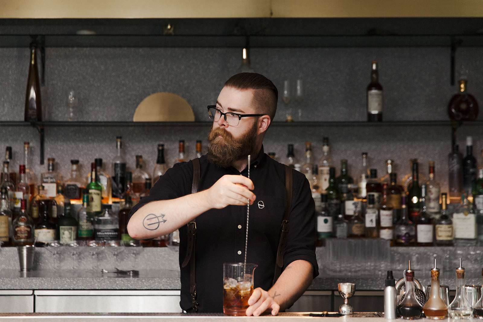 A Vancouver bartender represents the restaurant industry.