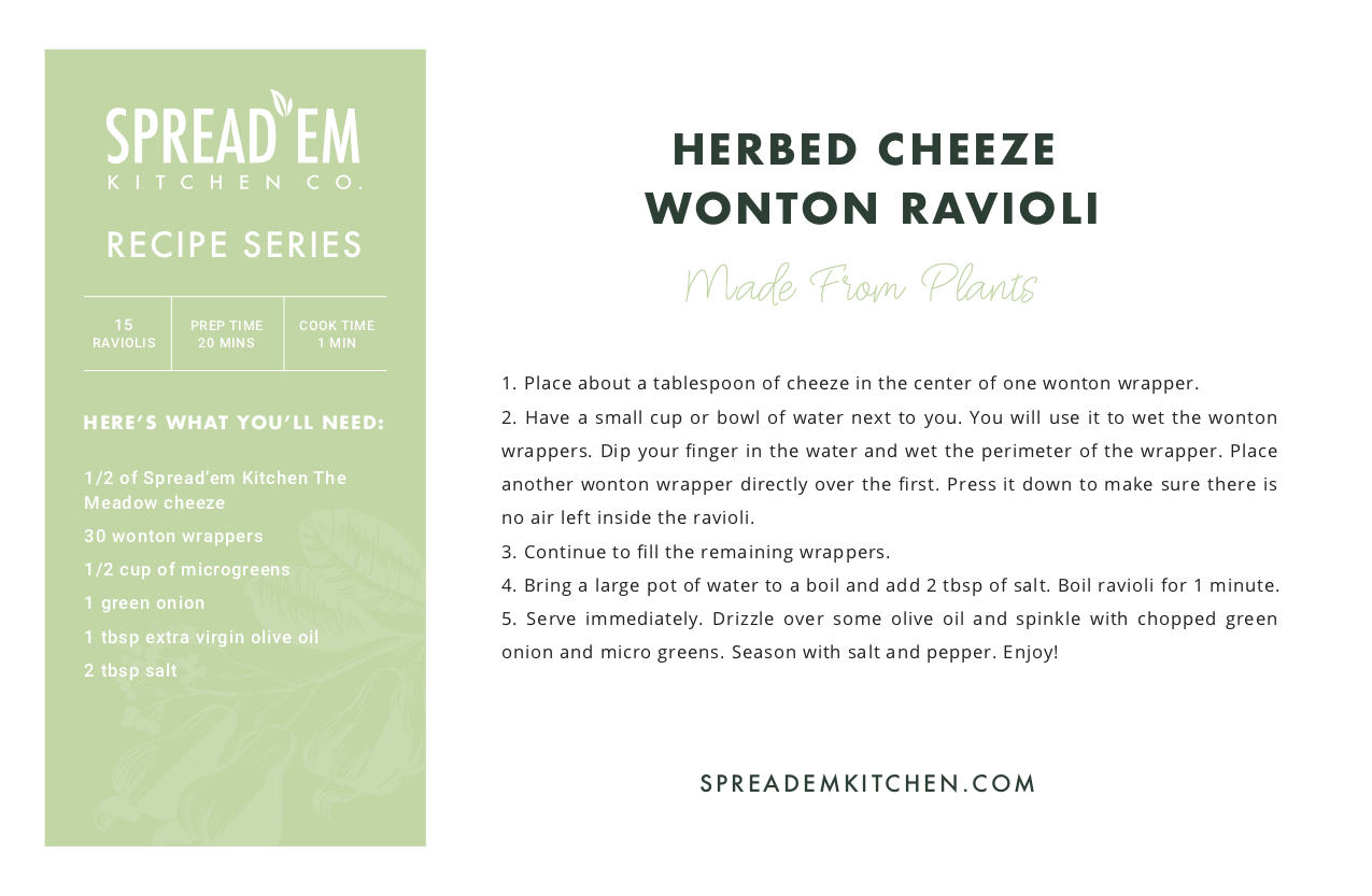 herbed cheeze wonton ravioli recipe