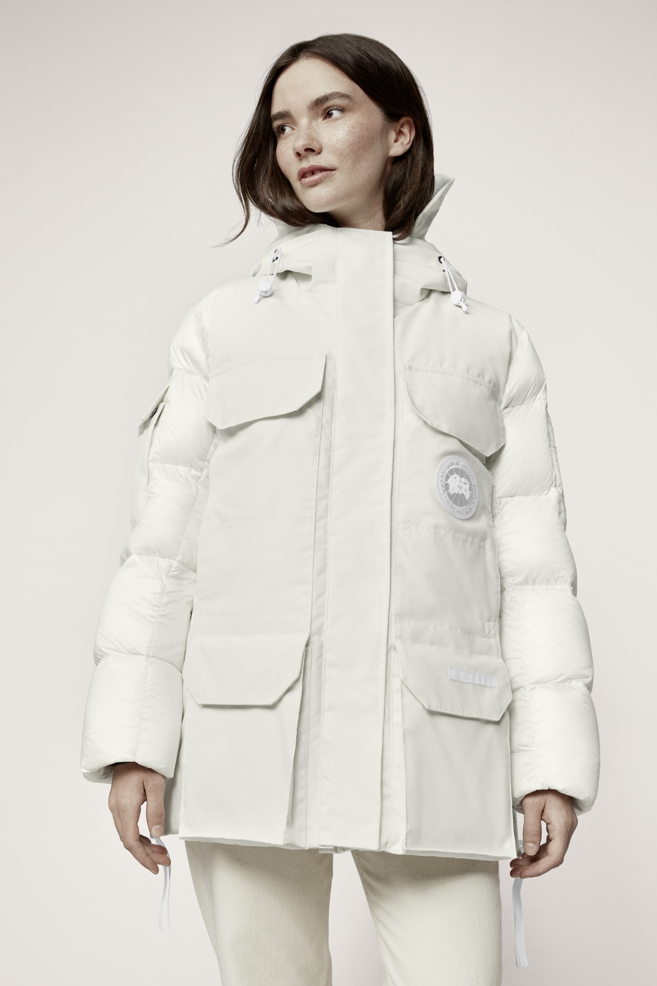 outerwear sustainable canada white