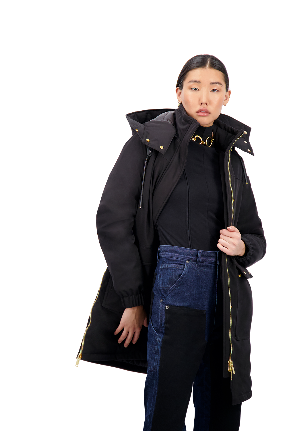 outerwear sustainable canada back and gold