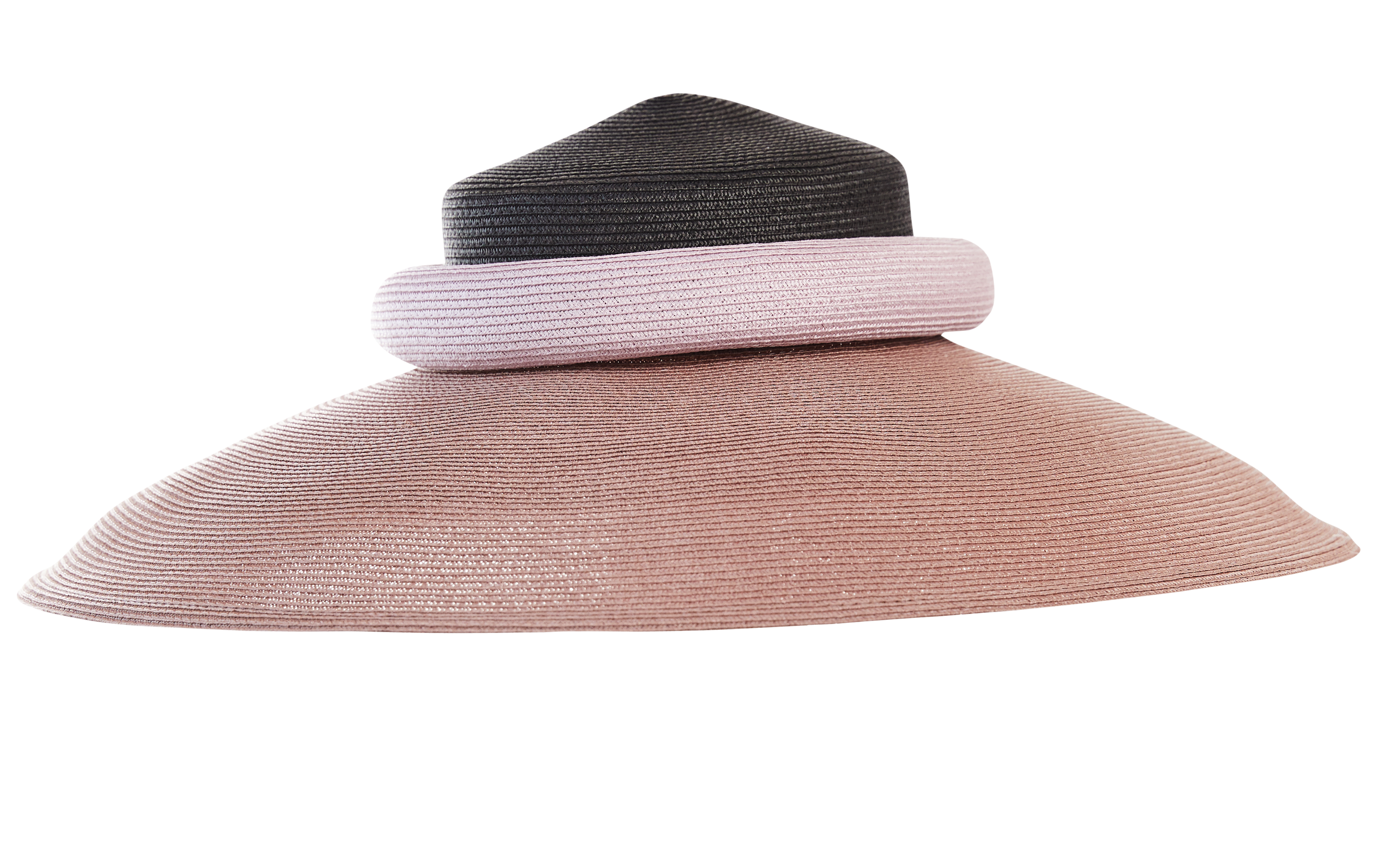 pink and black sun hat