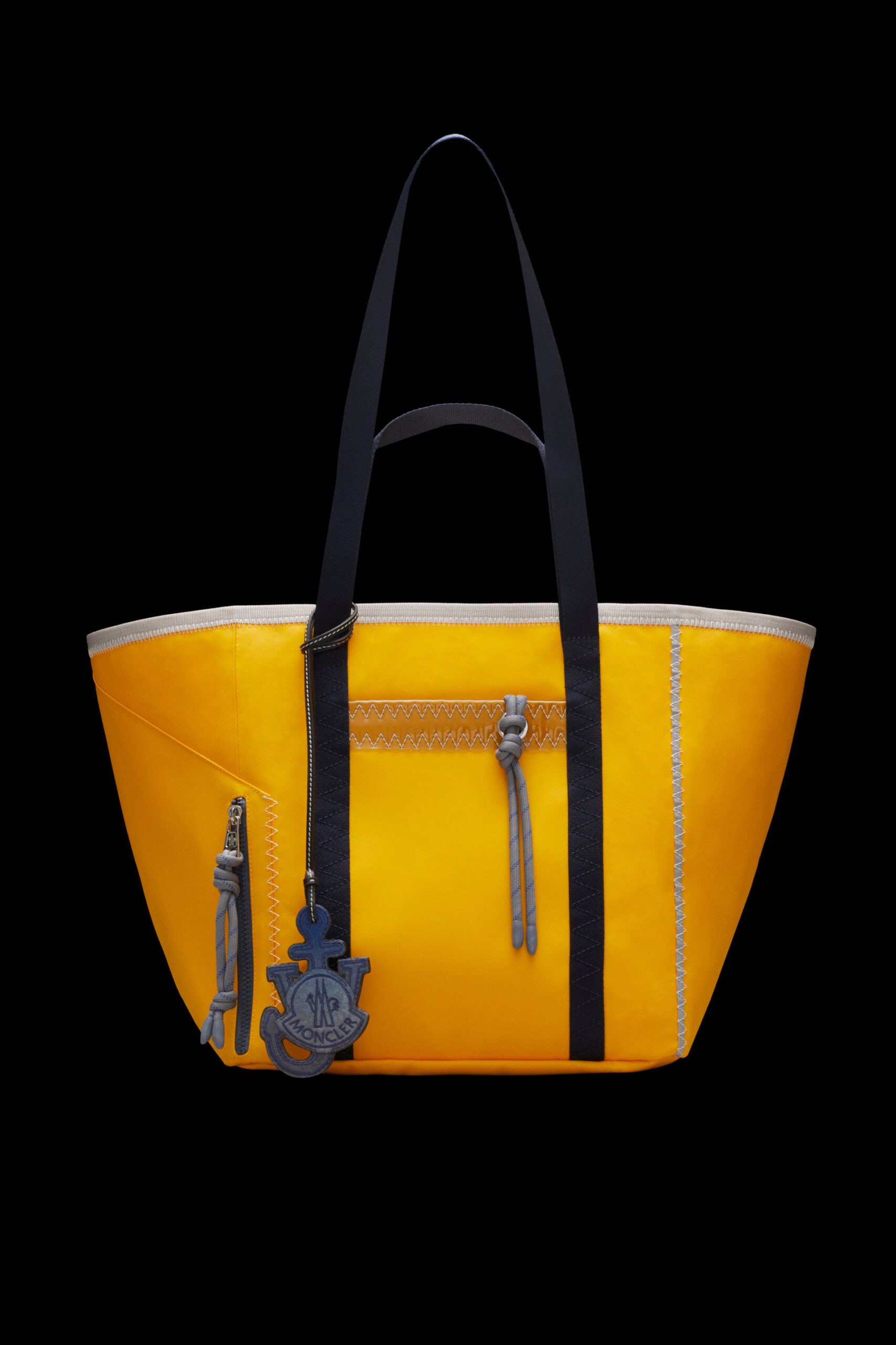 mens style guide boat theme yellow tote
