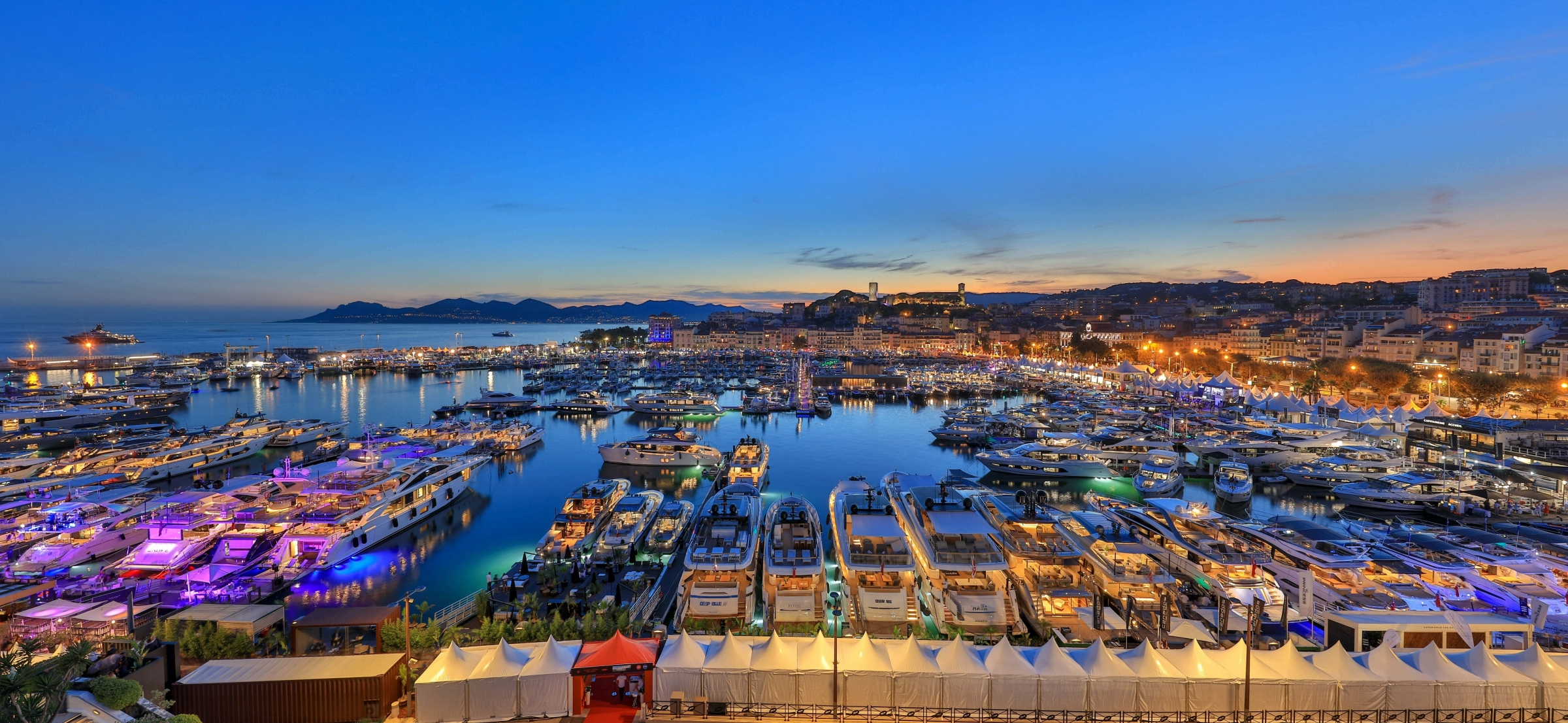 Aerial Picture of Cannes Yachting Festival