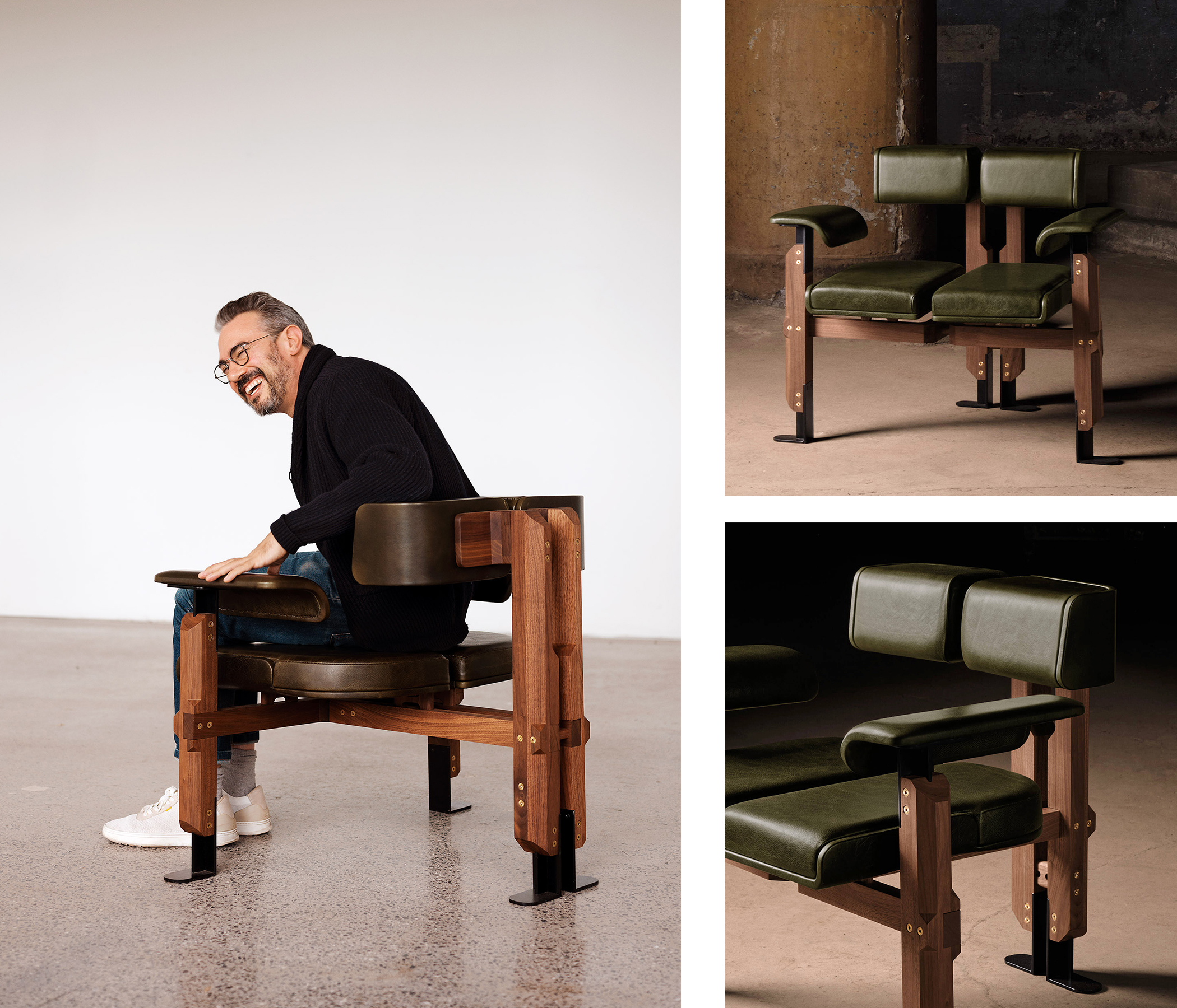 Designer Zébulon Perron and his Spineless Chair
