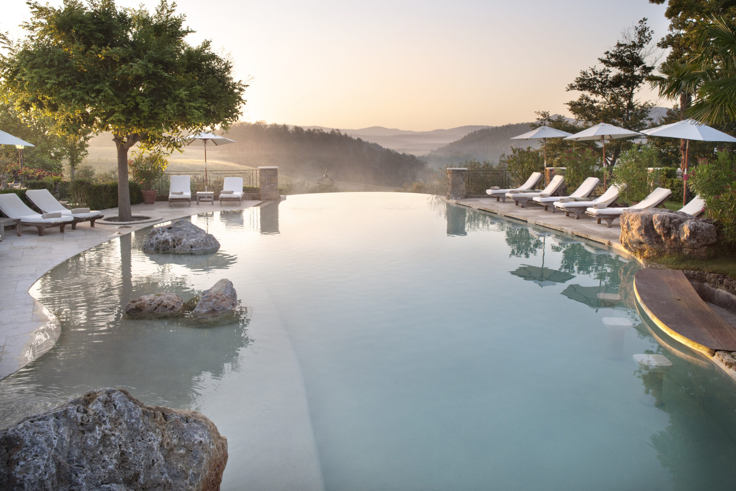 Tuscan spa with mist