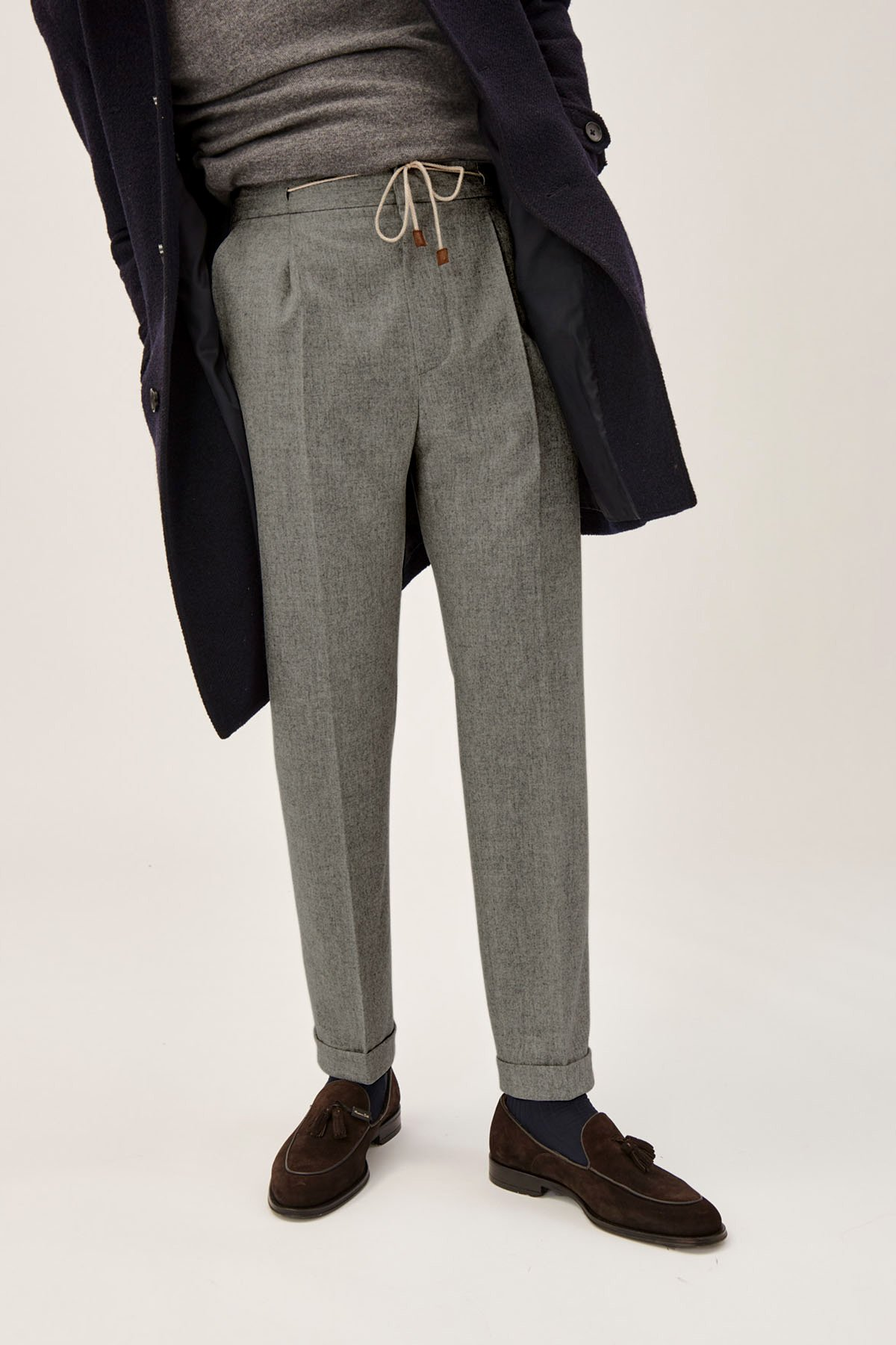 Wool trousers ethical Italian mens fashion
