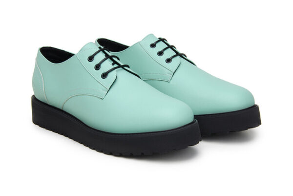 Men turquoise Derby Shoe sustainable