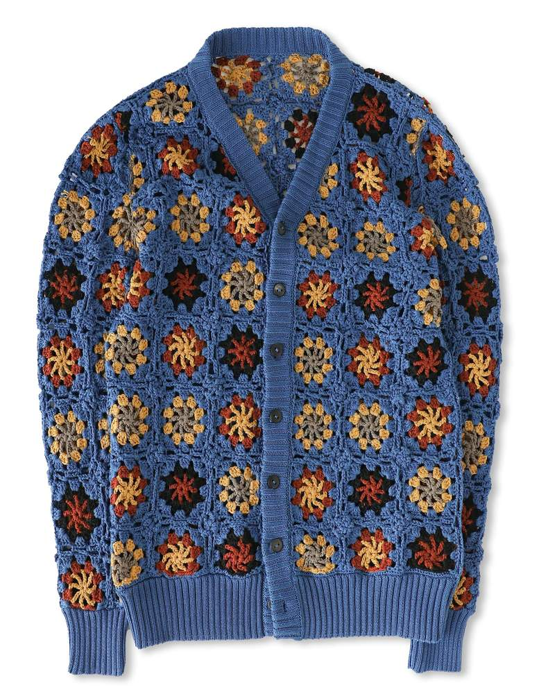 ethically sourced mens cardigan floral